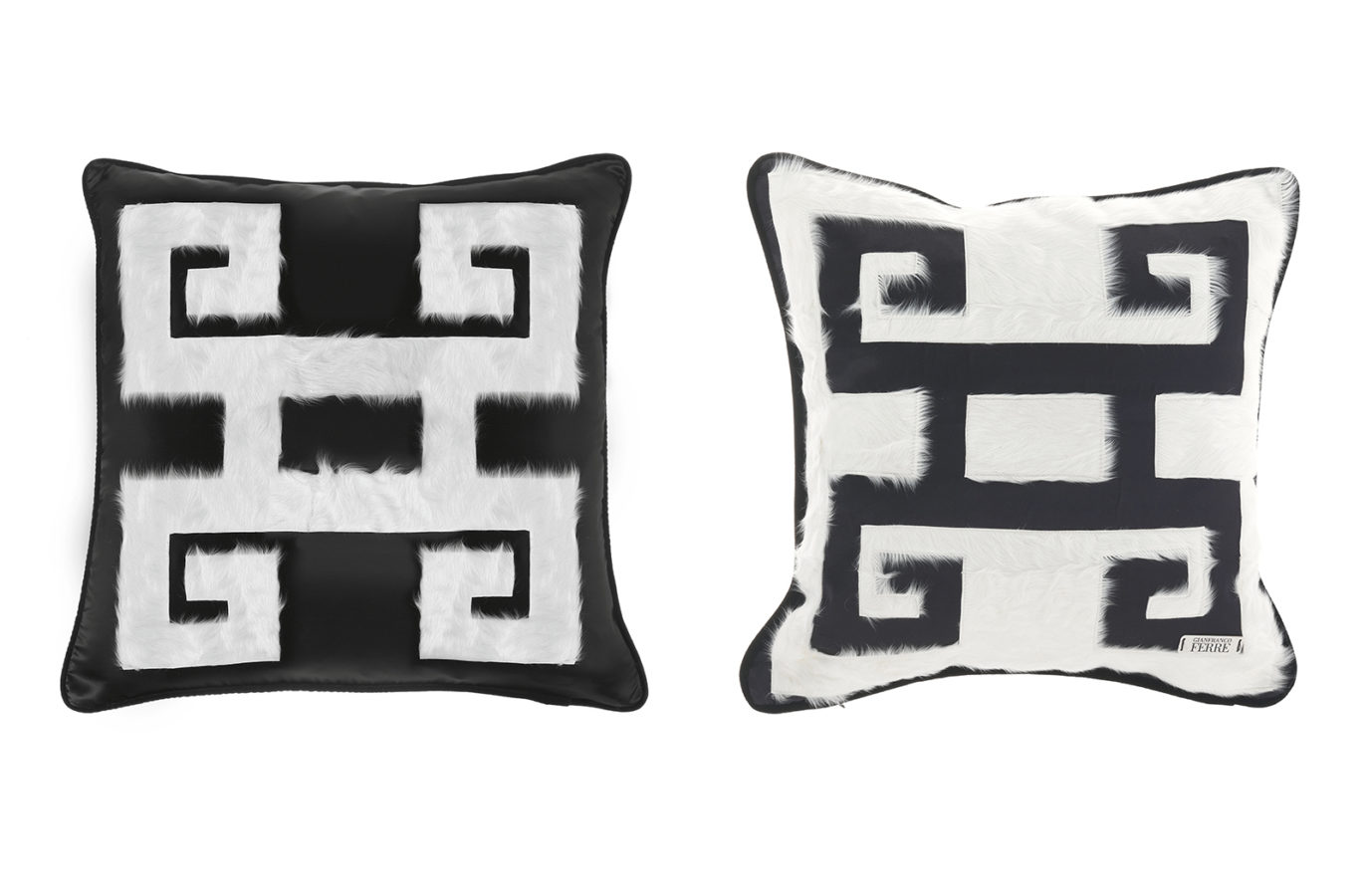 Gianfranco Ferre Home Greek Key Cushion 01