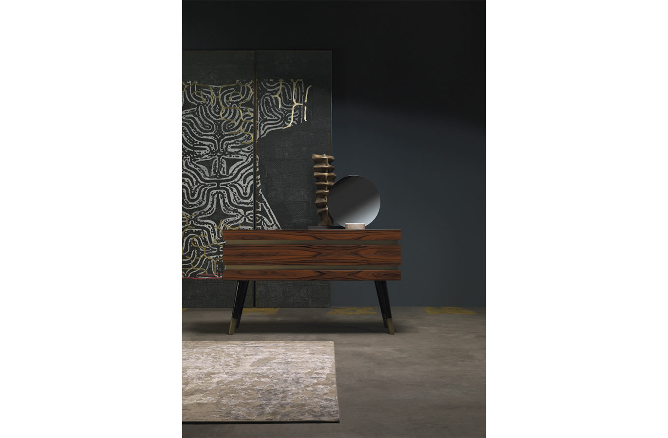Gianfranco Ferre Home Moon Mirror 01
